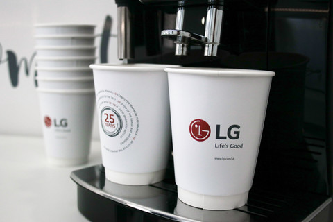 Kaffeemaschine im mobilen LG Showroom