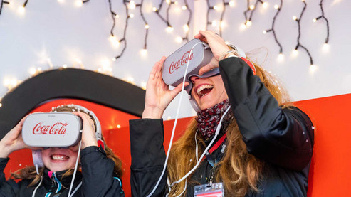 Coke Truck mit Virtual Reality